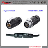 Pin Waterproof Bulkhead Electrical Connector di 20A 220V 3