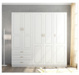 安く簡単で白いカラー木のワードローブのドア