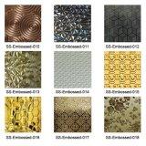 Placa de acero inoxidable grabada cubierta 201 colores