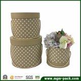 高品質の円形のボール紙の花のギフト用の箱