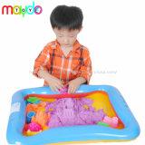 Caçamba mágico Kinetic jogar areia brinquedos com uma almofada insuflável castelo de área de segurança definido