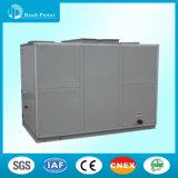 El sistema HVAC en la unidad de manejo de aire fresco con el sistema de control PLC