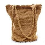 최신 판매 Handmade 핸드백 밀짚 부대 끈달린 가방