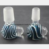 Blauwe Mannelijke Pijp van Hoofd 14.5mm, de Filter van de Waterpijp van het Glas van 18.8mm