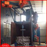 Machine rotatoire de grenaillage de crochets de cylindre de gaz