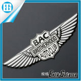 Logo 3D Chrome Eagle Wing Animal insignia de coche