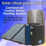 태양과 열 펌프 편평판 태양열 수집기에 의하여 잡종 큰 물 난방 장치