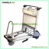 Serviço de bagagem do freio de mão de alumínio Carrinho Carrinho carrinhos de aeronaves