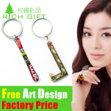 Customized Fashion Metal / PVC / Feather Printing Keychain