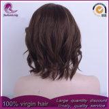 熱い様式のブラウンカラー自然な波状の中国の毛の完全なレースのかつら