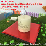 4mm Red Glass Candle Holder