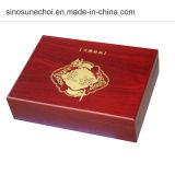 최신 판매에 새겨진 로고를 가진 1개의 병에 넣어진 소나무 나무로 되는 선물 상자