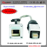 LAN RJ45 Connector van Cnlinko CAT6 RJ45 Connector/met Haven 2 Ethernet