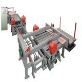 端のトリミングは合板の生産ラインについては機械を見た