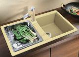 Dissipadores de cozinha compostos resistentes de alta temperatura de quartzo