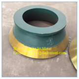 trituradora de cono Metso piezas / recipiente/Revestimiento de piezas de desgaste de las trituradoras mineras