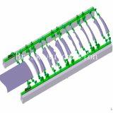 Компактный пневматический цилиндр для автозапчастей