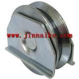 V el rodillo de Groove, polea de acero con el soporte de apoyo, en el interior del rodamiento de rodillos