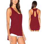 Parti superiori di serbatoio sexy del cotone delle camice Sleeveless delle donne