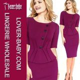 Lady Work Party Robe de bureau Bodycon (L36017-1)