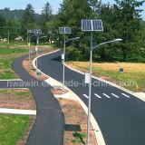 45W 8~9mの販売のための電池によって上取付けられる太陽街灯