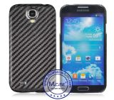 Coperchio reale commerciale su ordinazione della cassa del telefono mobile della fibra del carbonio di alta qualità 100% per Samsung S4