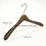 Percha de capa anti de madera del resbalón de la ropa para la visualización de la manera de la ropa del hombre (YL-yw28)