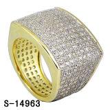 Koel Ontwerp 925 Zilveren Juwelen Twee van CZ de Ring van de Mensen van Hip Hop van de Toon. (S-14963)