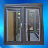 Doppeltes Panel Aluminium Casement Window mit Internal Shutter