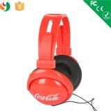 Casque avec Coco Cola Logo pour Promotioanl Gift Headphone