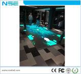 알루미늄 실내 P6.25 500*500mm는 주물 내각 임대 대화식 LED 댄스 플로워를 정지한다