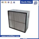 Grande filtro da terra arrendada HEPA da poeira com separadores de alumínio