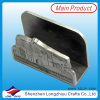 Custom Train Design Wedding Alumínio Business Name Card Holder