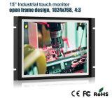 """Monitor LCD de montagem traseira de 15 """"para aplicação industrial"""