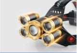 Tocha principal impermeável do farol brilhante super de 5 diodos emissores de luz Zoomable