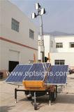 Silencio rentable de larga duración de la torre de luz solar portátil