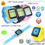 3G/WiFi GPS het Horloge van de Drijver voor Kind/Jonge geitjes met de Camera van de Omwenteling D18s