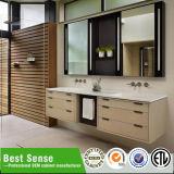 Vanité américaine de salle de bains en bois solide