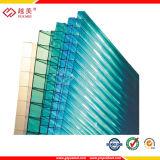 Folha de parede verde desobstruída triplicar-se do policarbonato do azul 6mm&8mm do GV