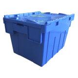recipiente anexado da tampa da logística do armazenamento da venda de 750*570*625mm plástico quente