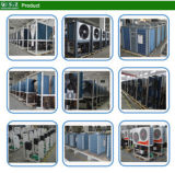 -25c Salle de chauffage au sol en hiver froid 10kw / 15kw / 20kw 220V avec lac / rivière / saumure Source d'eau de mer Chauffage et refroidissement géothermiques