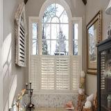 Gris cristal blanco de vidrio Material de construcción Perfil de UPVC con rejillas de ventana deslizante