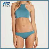 Einfacher Art-Luxus gurtet Verband-Badebekleidungs-Bikini-Zeichenkette-reinen Farben-Qualitäts-Bikini