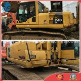 Excavatrice hydraulique de chenille utilisée par 1.5cbm/24ton de la Jaune-Peinture AC/Sleeper-Attached Japon KOMATSU PC240-8