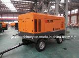 La Chine vis prix d'usine Movable Type Diesel pompe du compresseur à air pour le forage des mines de roche de pierre