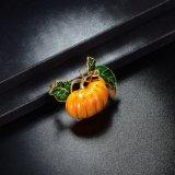 El cristal accesorio del esmalte de la alineada rebordea la broche de imitación de la calabaza de la joyería de la manera