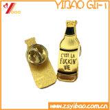 Pin do esmalte da cor de Cutom com preto chapeado (YB-SM-05)