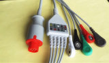 Кнопка Bionet 8pin Aha/кабель Leadwire ECG зажима 5