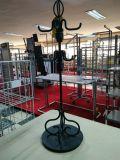 Klein-Fernsehapparat-Fußboden-Ineinander greifen-Arbeits-Fahnen-Bildschirmanzeige-Ausstellung-Edelstahl-Blech