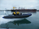 Canot automobile gonflable rigide de côte du bateau de sauvetage 7persons/fibre de verre d'Aqualand 14.5feet 4.4m (RIB440T)